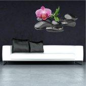 Autocolante decorativo seixos orquídea