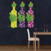 Autocolante decorativo uvas de vinho
