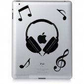 Autocolante ipad 2 música