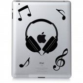 Autocolante ipad 3 música