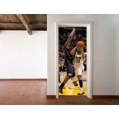 Autocolante para porta basquetebol