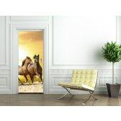 Autocolante para porta cavalos