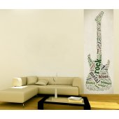Banner Guitar Wall Sticker