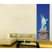 Banner Liberty Statue Wall Sticker