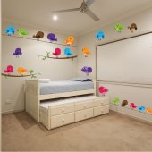 Bird Set Wall Stickers