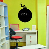 Bomb - Chalkboard / Blackboard Wall Stickers
