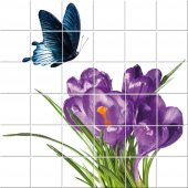 Butterfly Flower - Tiles Wall Stickers