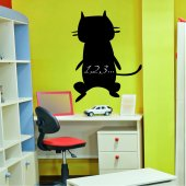 Cat - Chalkboard / Blackboard Wall Stickers