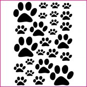 Cat track Set Wall Stickers