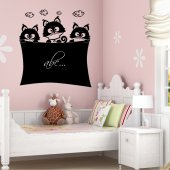 Cats - Chalkboard / Blackboard Wall Stickers