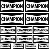 Champion Aufkleber-Set