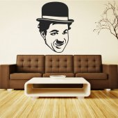 Charlie Chaplin Wall Stickers