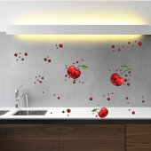 Cherry Set Wall Stickers