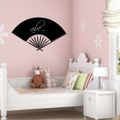 Chinese fan - Chalkboard / Blackboard Wall Stickers