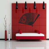 Chinese fan Wall Stickers