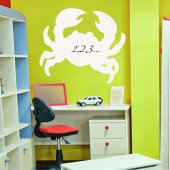 Crab - Whiteboard Wall Stickers