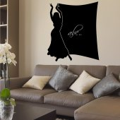 Dancer - Chalkboard / Blackboard Wall Stickers