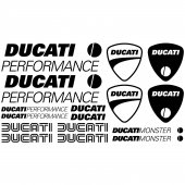 Ducati performance Decal Stickers kit