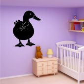 Duck Chalkboard / Blackboard Wall Stickers