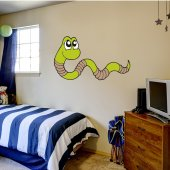 Earthworm Wall Stickers
