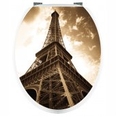 Eiffel Tower - Toilet Seat Decal Sticker