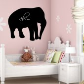 Elephant - Chalkboard / Blackboard Wall Stickers
