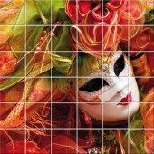Fliesenaufkleber venezianische Maske