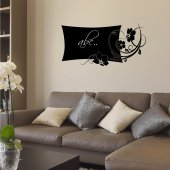 Flower - Chalkboard / Blackboard Wall Stickers