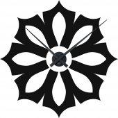 Flower Clock Wall Stickers