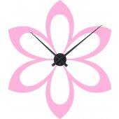 Flower Clock Wall Stickers