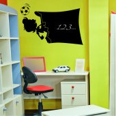 Football Player - Chalkboard / Blackboard Wall Stickers
