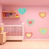 Hearts Set Wall Stickers
