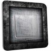 Interrupteur Décoré Poussoir Abstrait gris