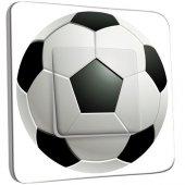 Interrupteur Décoré Poussoir Ballon de foot Black&White 2