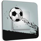Interrupteur Décoré Poussoir Ballon de foot Design 1