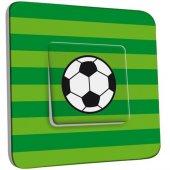 Interrupteur Décoré Poussoir Ballon de foot Fond vert