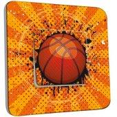 Interrupteur Décoré Poussoir  Basket-Ball 1