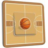 Interrupteur Décoré Poussoir Basket-Ball