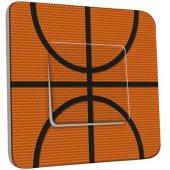 Interrupteur Décoré Poussoir Basket-Ball Zoom 1