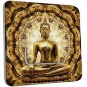 Interrupteur Décoré Poussoir Bouddha Or 2
