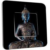 Interrupteur Décoré Poussoir Bouddha  Zen 3