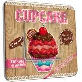 Interrupteur Décoré Poussoir Cupcake
