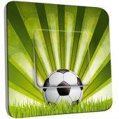 Interrupteur Décoré Poussoir Football 2