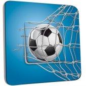 Interrupteur Décoré Poussoir Football Bleu