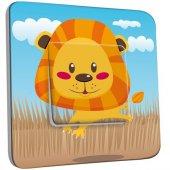 Interrupteur Décoré Poussoir Lion Enfant