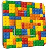 Interrupteur Décoré Poussoir Motif Lego Multicoloré 1
