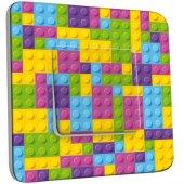 Interrupteur Décoré Poussoir Motif Lego Multicoloré