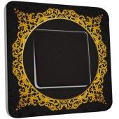 Interrupteur Décoré Poussoir Motif Oriental Black&Gold 3