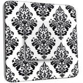 Interrupteur Décoré Poussoir Motif Oriental Black&White