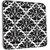 Interrupteur Décoré Poussoir Motif Oriental Black&White 2